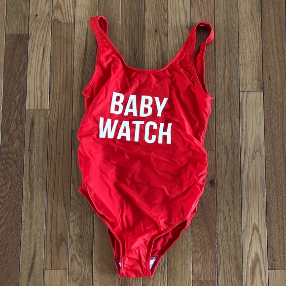 986cde1a5 Mamagama Other - Maternity swimsuit red baby watch S M mamagama